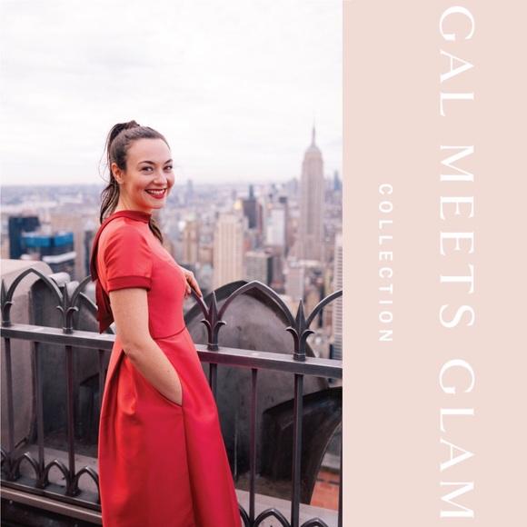 80cff6b2e23 Gal Meets Glam Annabelle Bow Back Satin Dress NWT